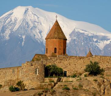 По следам древности: монастрь-крепость Хор Вирап, водопад Шаки и Татев
