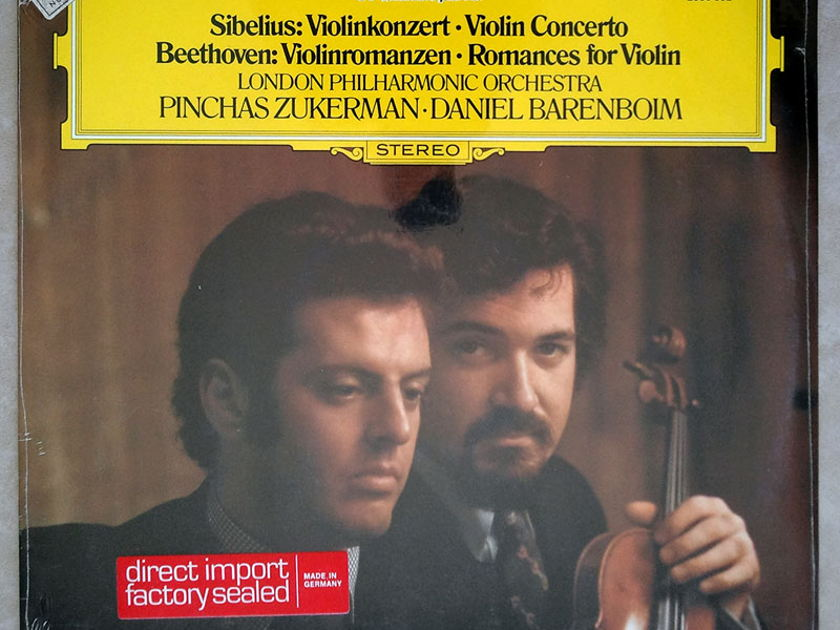 Sealed DG | ZUKERMAN/SIBELIUS - Violin Concerto/BEETHOVEN Romances for Violin / PROMO COPY