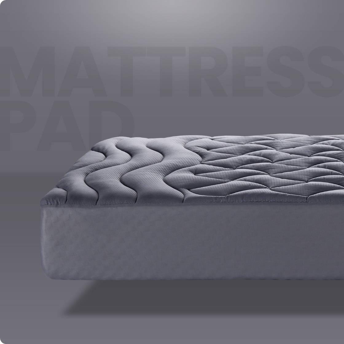 sleep zone bedding 3 zone mattress pad grey gray