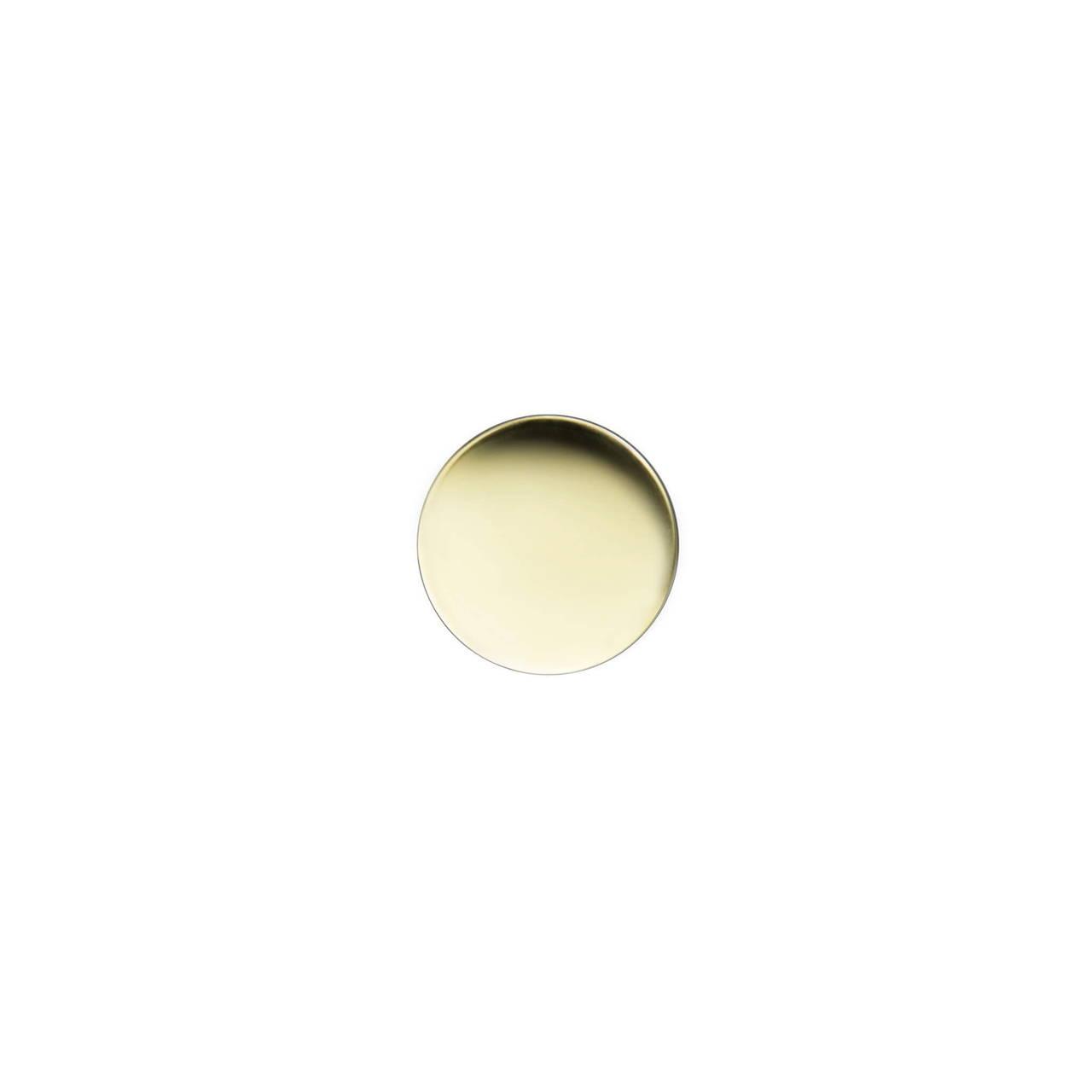 Polished Brass Cufflink top face