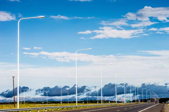 estrada da Argentina com céu nublado