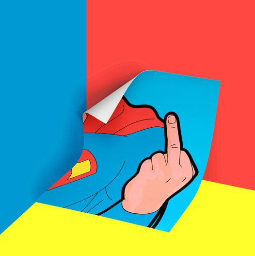 Постер Супермэн 2 в прочном тубусе