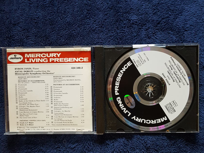 HARRY PEARSONS PRIVATE COLLECTION  - MOUSSORGSKY/RAVEL PICTURES AT AN EXHIBITION MERCURY CD*SIGNED BY BYRON JANIS AND WILMA COZART FINE*