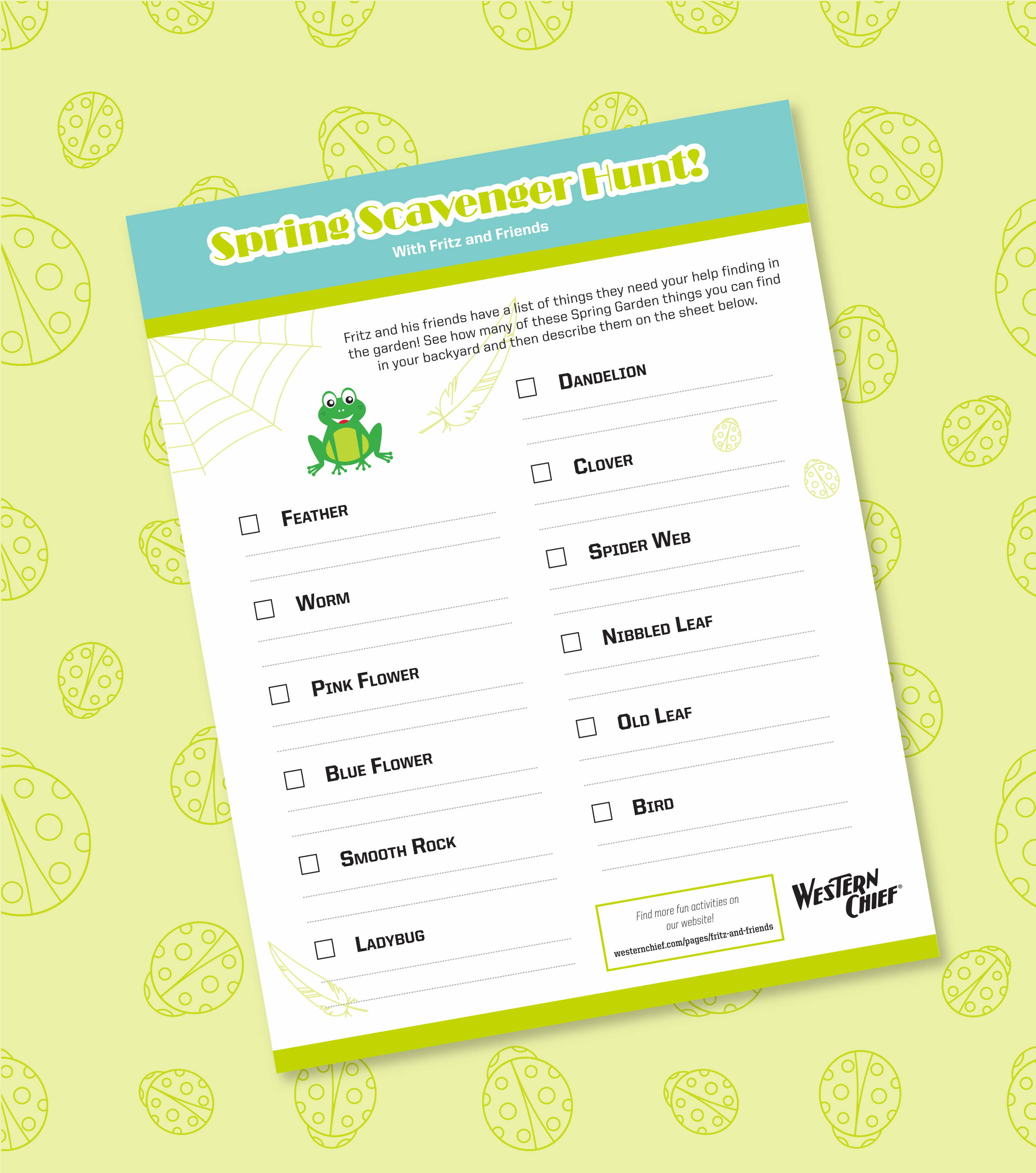 Western Chief Spring Scavenger Hunt Activity