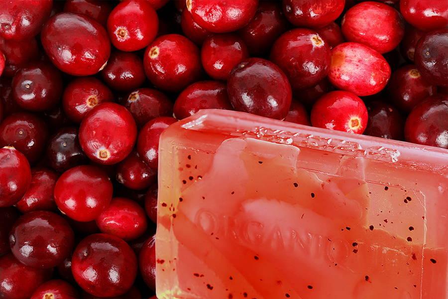 Glycerin Handmade Soap Bar Cranberry 100g