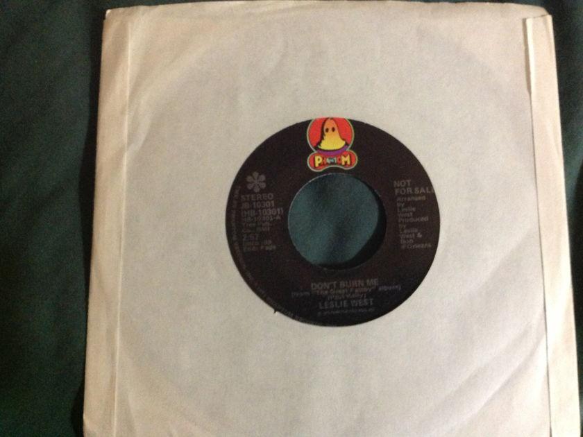Leslie West - Don't Burn Me Promo 45 NM