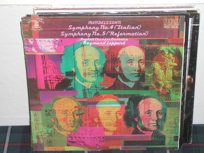 Leppard/Eco - Mendelssohn Symp 4 RCA Red Seal LP Sealed