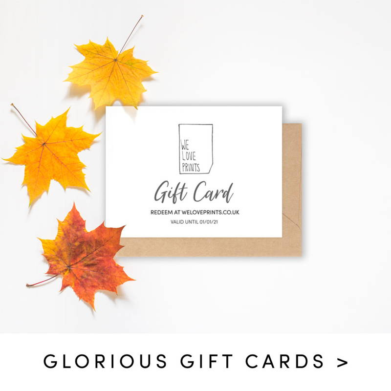 Shop glorious gift cards
