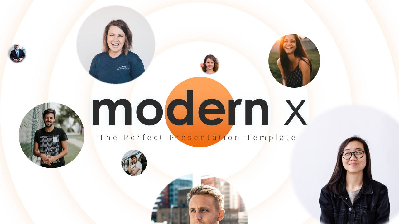 Modern X Presentation Template Business Plan Title Page