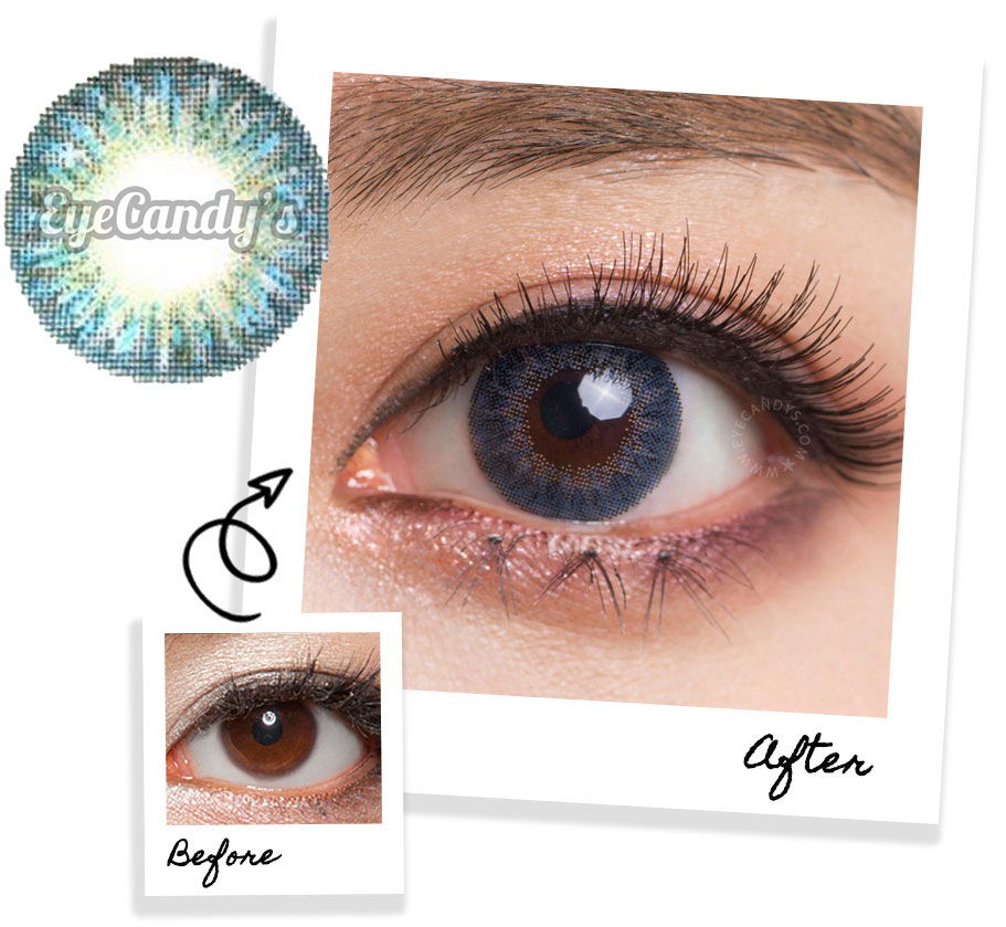 Blue contact lenses for brown eyes