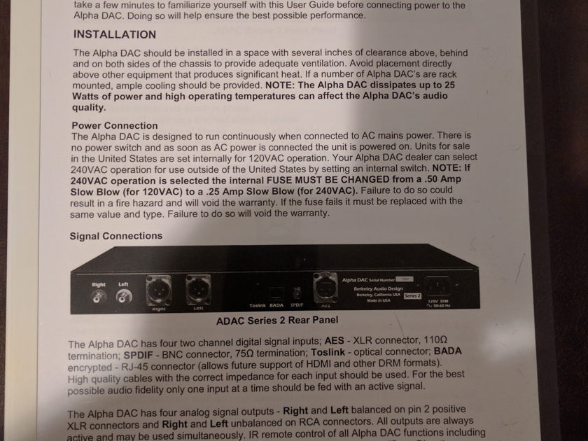 Berkeley Audio Design Alpha 2 DAC