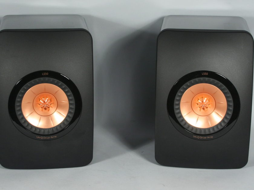"KEF LS50 ""All-Around Satisyfing"" Speakers, High Gloss Piano Black"