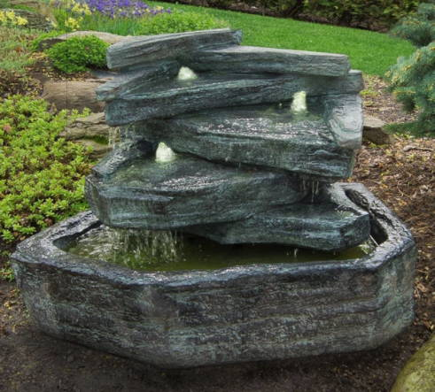 Waterfall Fountains, Rock Fountains, Cascading Rock Fountains, Resin Fountains