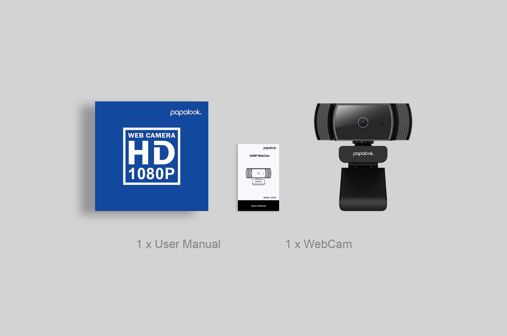 PAPALOOK AF925 1080P Autofocus Webcam