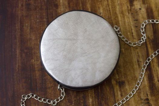 """Серебряная женская сумка из натуральной кожи, на цепочке. """"Селена"""""""