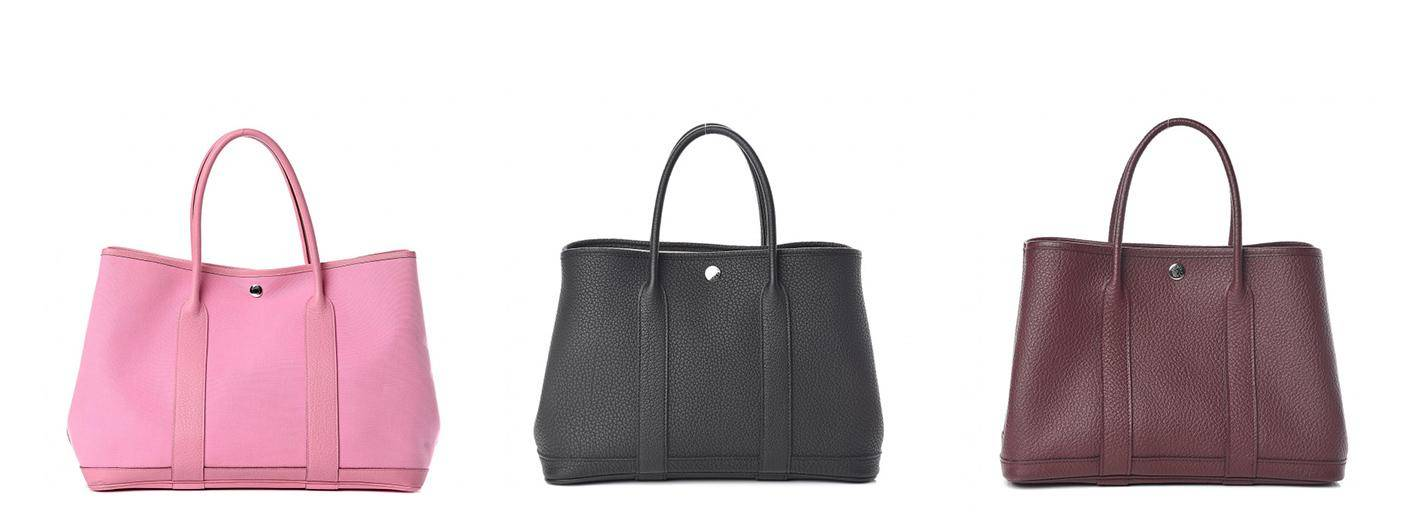 Hermes Garden Party totes in 3 colors
