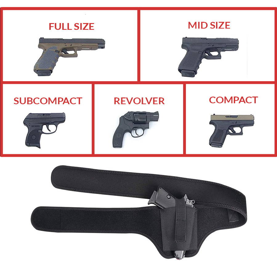 linkes Schulterholster, Schulterpistolenhalfter, Bauchholster, rechtes Schulterholster
