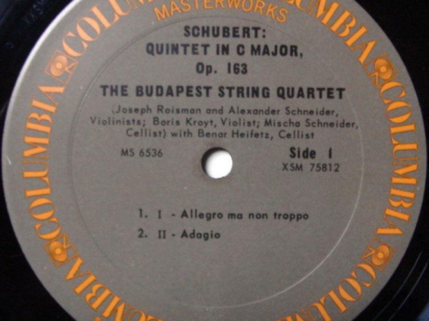 Columbia / BUDAPEST QT-HEIFETZ, - Schubert String Quintet in C, MINT!