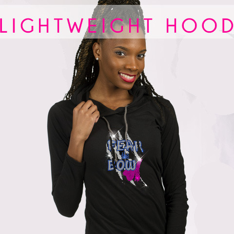 glitterstarz custom bling hoodie lightweight black teamwear for cheer dance