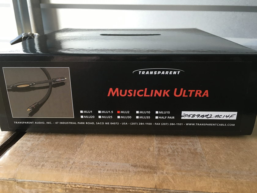 Transparent Audio Music Link Ultra Phono 1 meter phono cable - NEW IN BOX