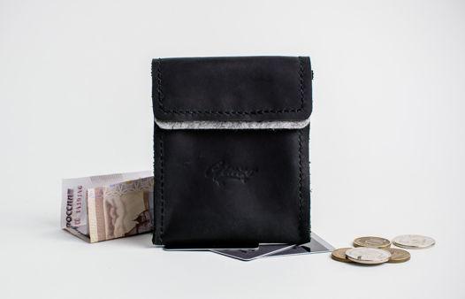 Карманный кошелек -POCKET- цвет Black Carbon