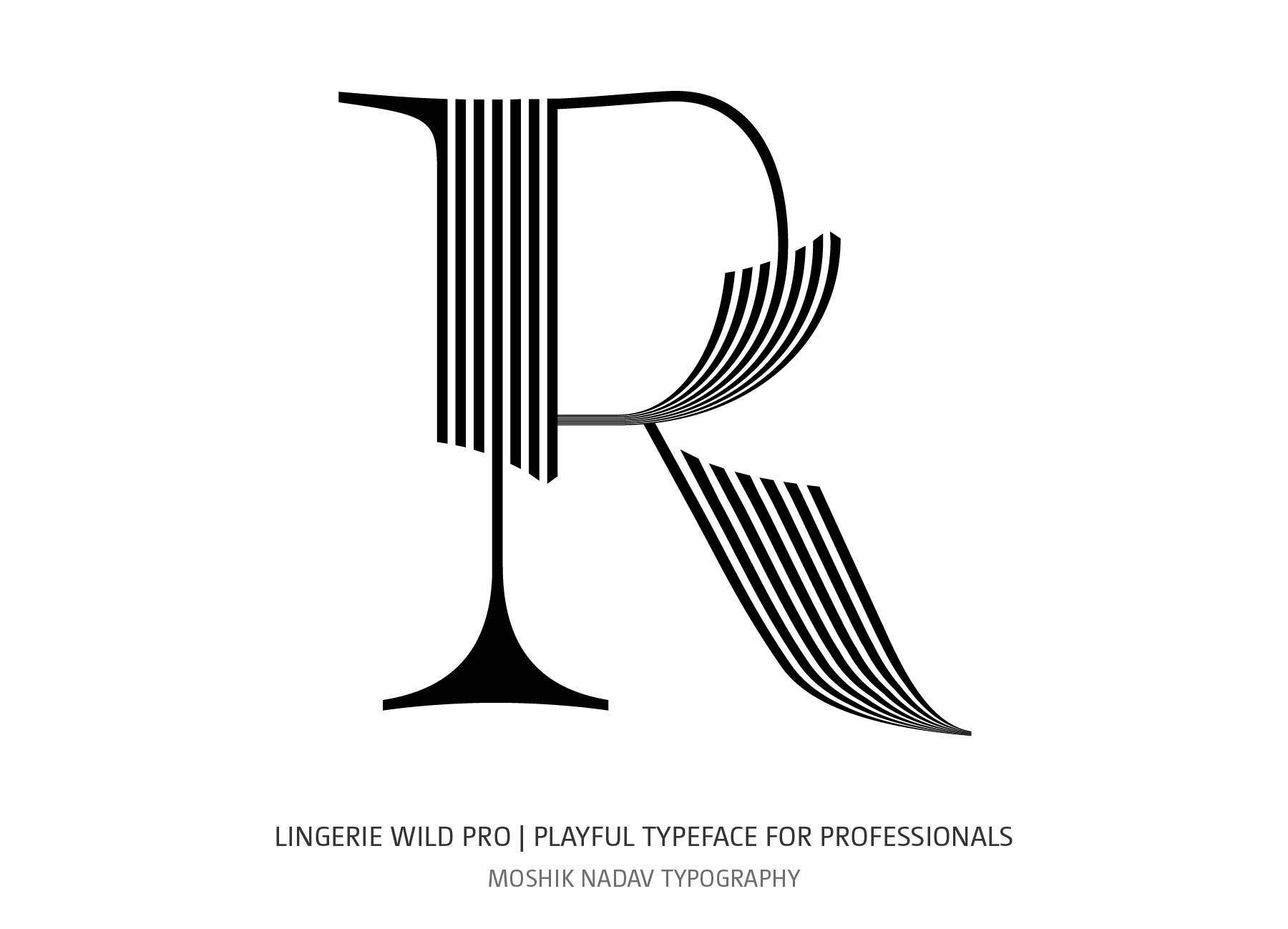 Super sexy R letter made with Lingerie Wild Pro Typeface by Moshik Nadav Typography