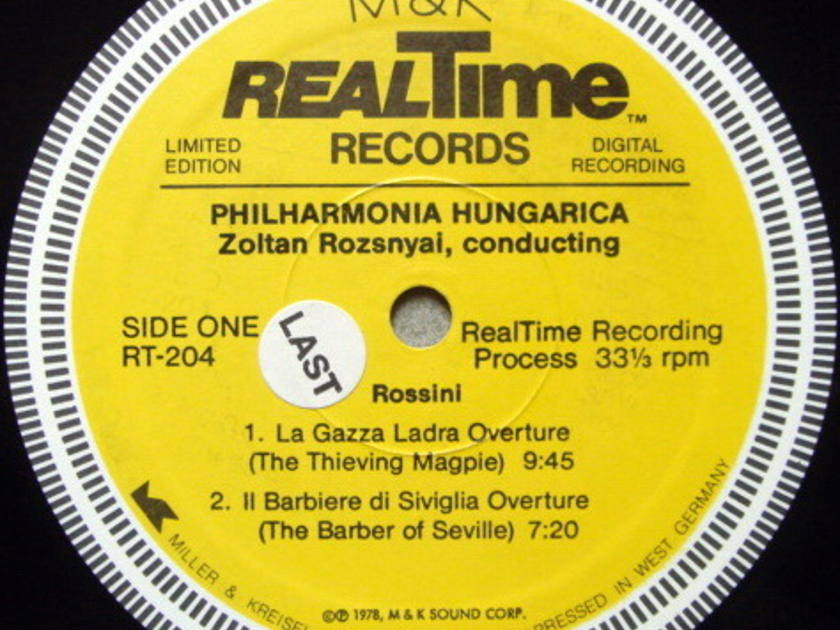★Audiophile★ M&K RealTime / ROZSNYAI, - Rossini Overtures, NM!
