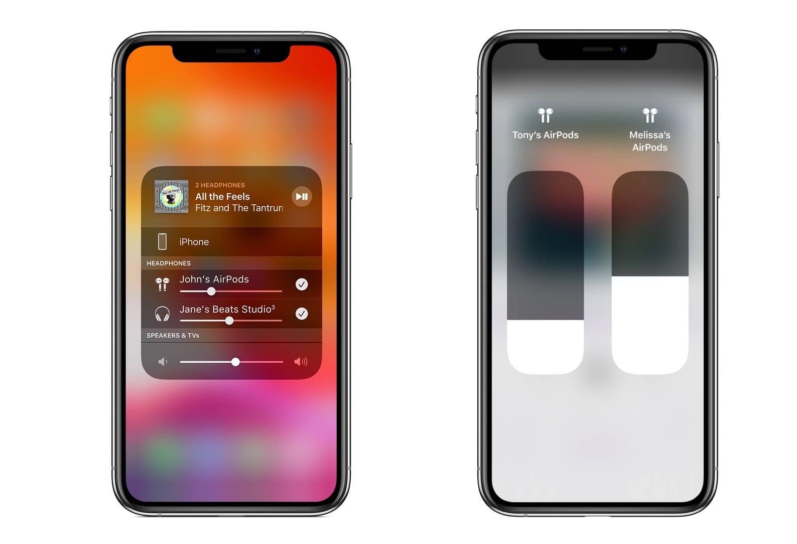 connecter deux airpods au même iphone