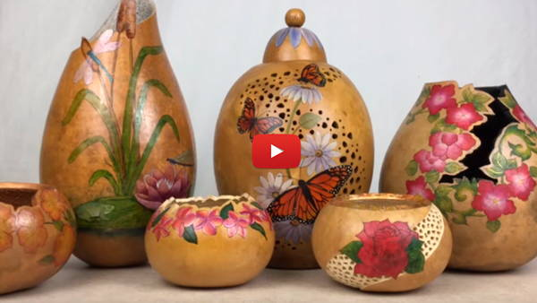 Watch Video #5- Creating Fancy Cuts and Filigree on Gourds