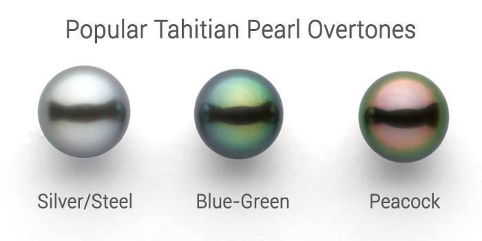 popular Tahitian pearl overtones