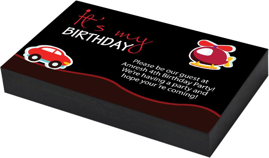Toy car birthday invitation