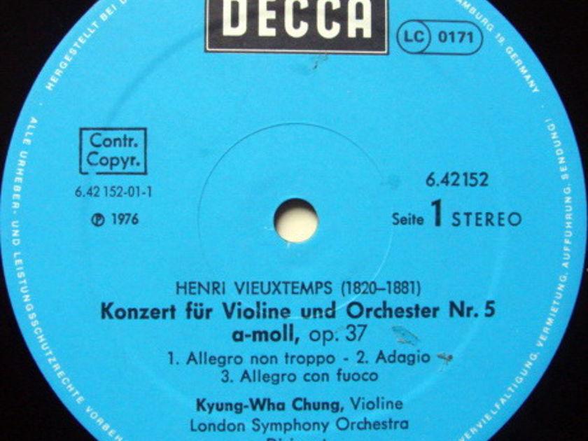 DECCA Germany / CHUNG-FOSTER, - Saint-Saens/Vieuxtemps Violin Concertos, MINT!