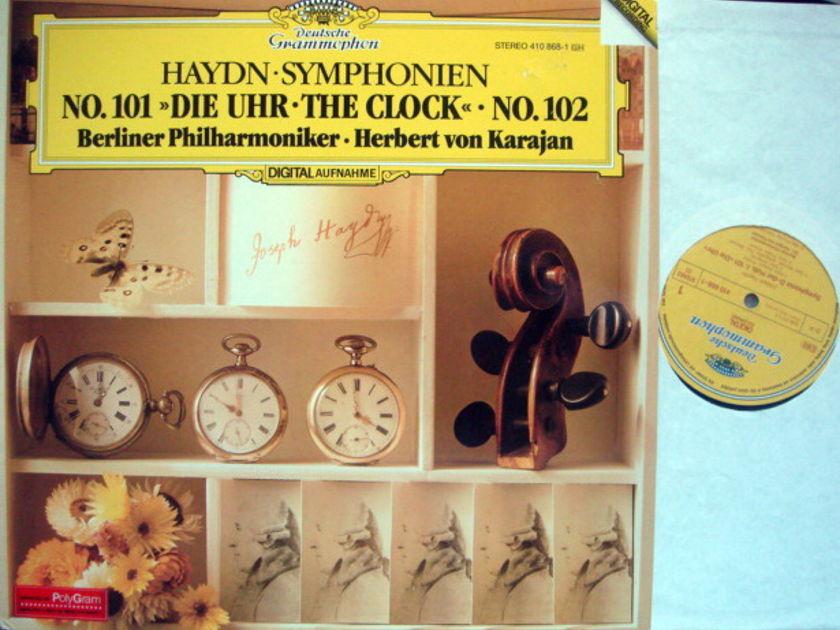 DG Digital / KARAJAN-BPO, - Haydn Symphony No.101 The Clock & No.102,  NM!
