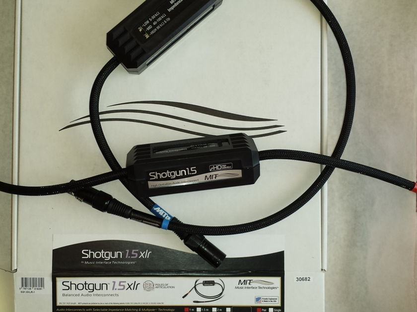 MIT Shotgun S1.5 Proline XLR, 1M pair;  DEMO, 10/10. Lifetime Warranty