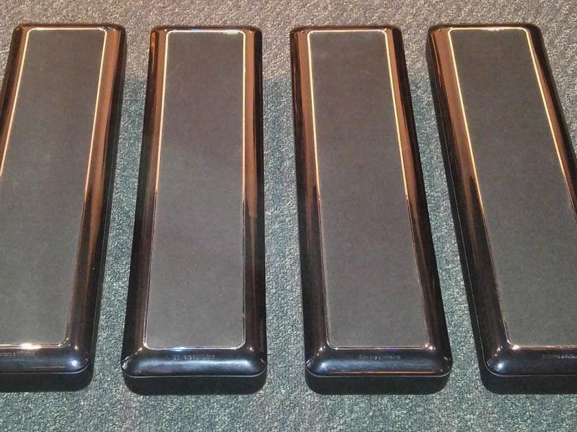 Bowers & Wilkins VM-6 (Four Pieces 2 prs) Slimline Speakers Floor standing or wall mount in black