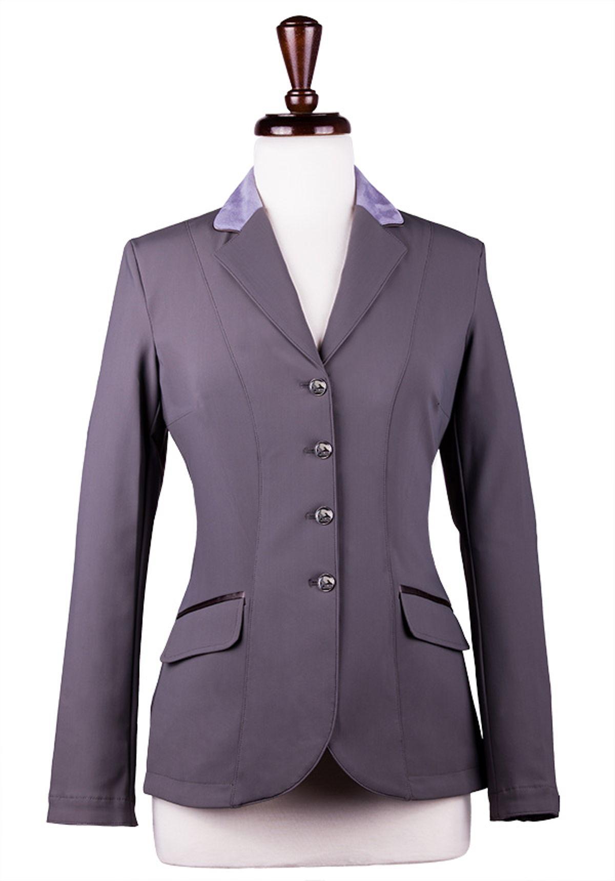 Grey with Violet suede