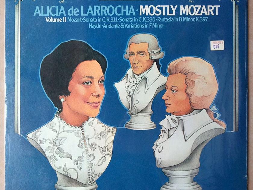 Sealed/London ffrr/Alicia de Larrocha/Mozart - Sonatas in C K.311, K.330, Fantasia in D Minor K.397,  Haynd Andante & Variations in F Minor