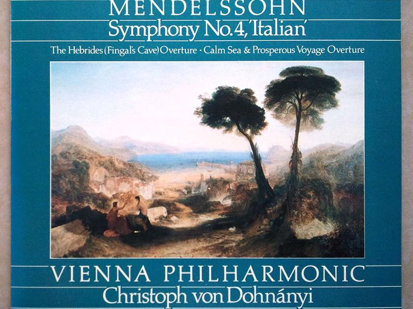 London Digital/Dohnanyi/Mendelssohn - Symphony No.4 Italian, Overtures / NM