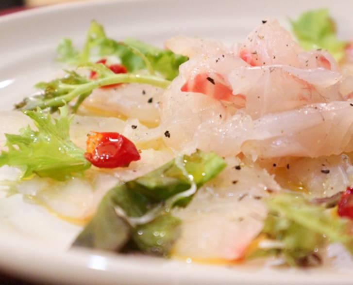 白身魚のカルパッチョ ペアリング 日本酒