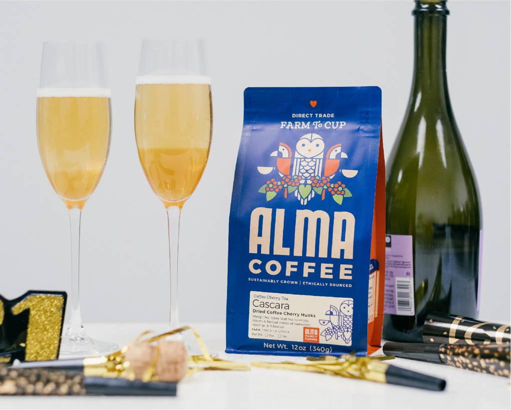Mimosas and a Bag of Alma's Cascara