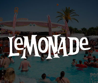 Info and tickets pool party Playasol, lemonade