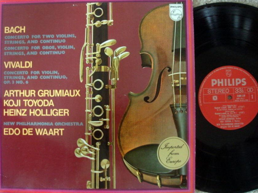 Philips / GRUMIAUX-HOLLIGER-TOYODA, - Bach-Vivaldi Concertos, EX!