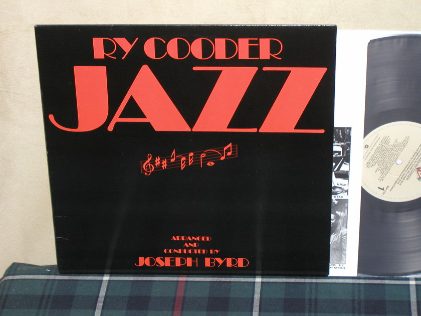 Ry Cooder          JAZZ - Embossed Cover (1st Press) Tan w/crosshatches labels