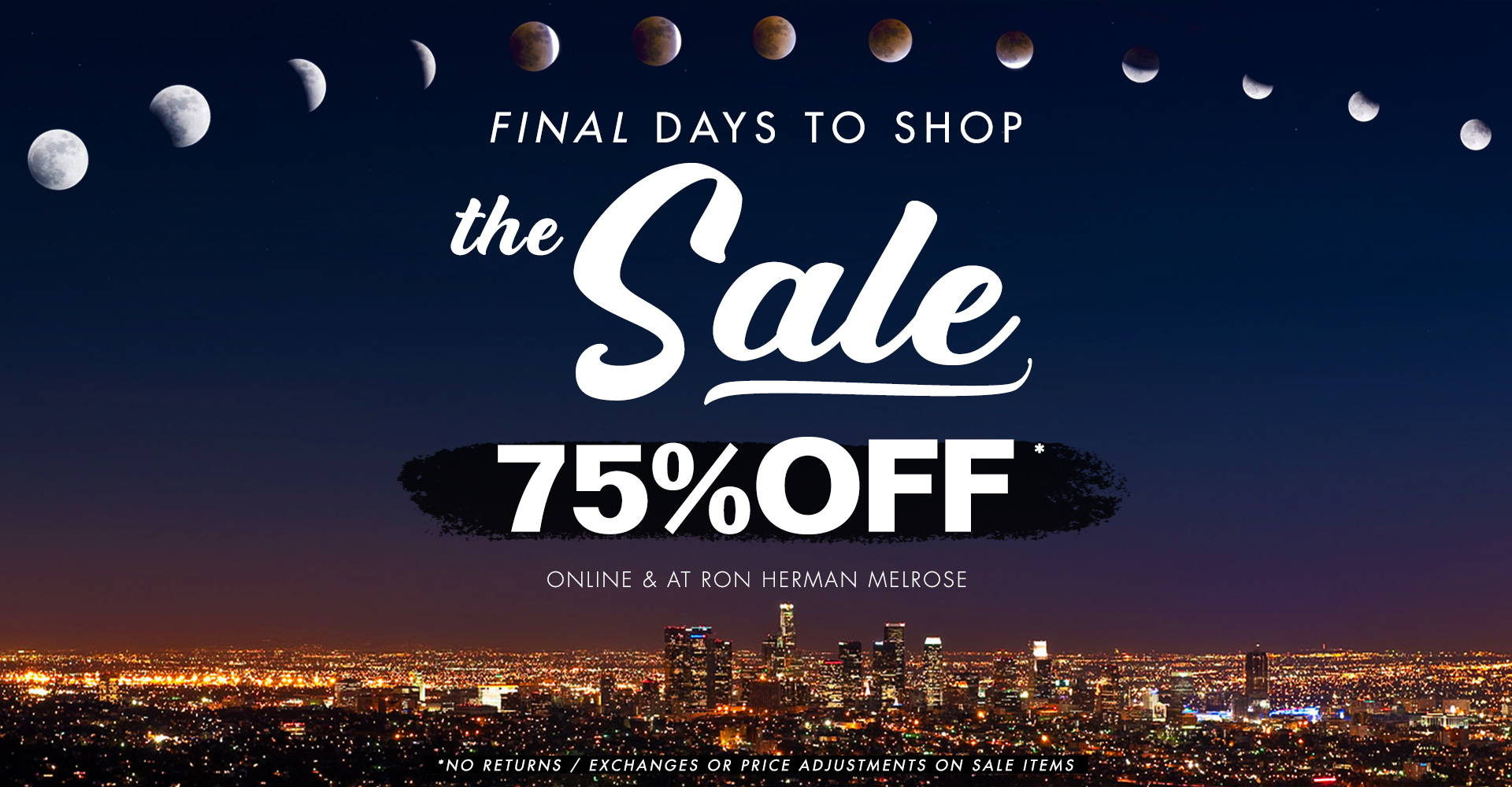 The Ron Herman Annual September Sale is Now 75% OFF  | Mens & Womens Online Only