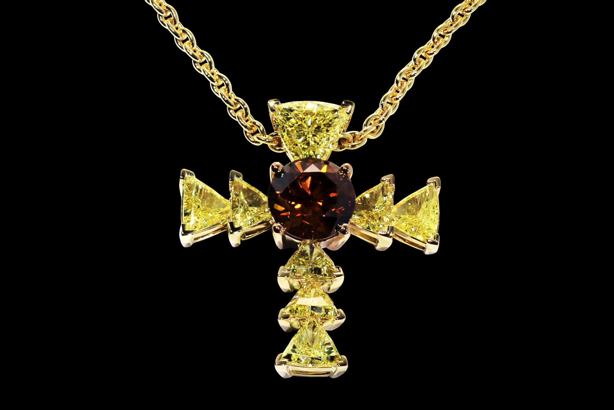The Trinity Diamond Cross front view