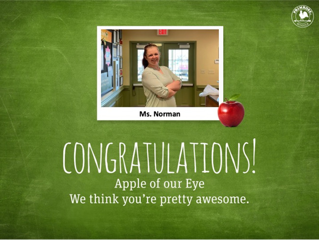 Apple of Our Eye Ms. Norman