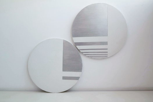 Набор из двух настенных панелей Silver Abstract