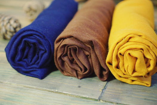 Однотонные кашмирские шали