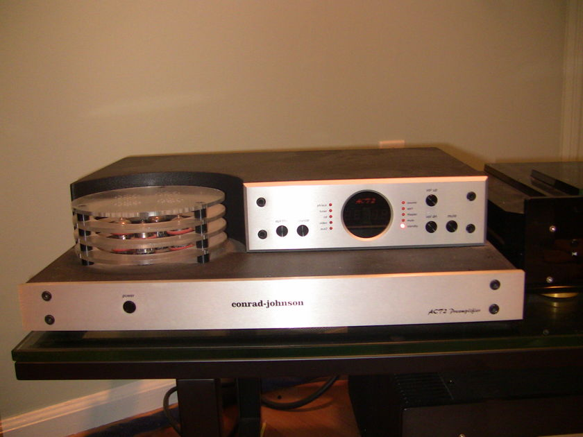 Conrad Johnson  ACT 2 (Factory Checkup and Brand New Tubes, Custom Brushed Steel) Tube Preamp