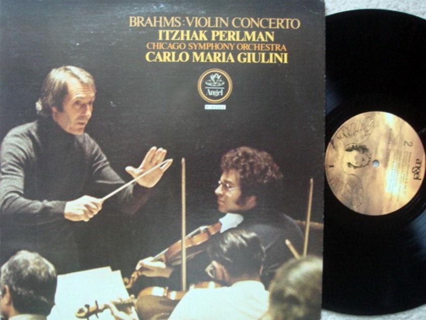 EMI Angel / PERLMAN-GIULINI, - Brahms Violin Concerto, NM!